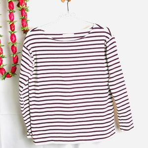 Everlane Boxy Striped Tee, Red and White